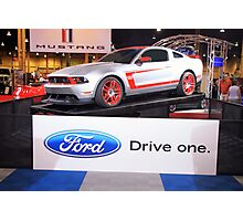 Race car with a license plate: Ford Boss 302 Leguna Seca - DRIVE ONE Photographic Print