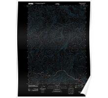 USGS Topo Map Oregon Remote 20110824 TM Inverted Poster