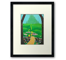 The Emerald City Framed Print