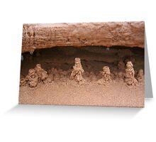 Drip sand sculptures Greeting Card
