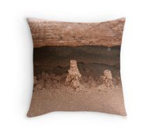 Drip sand sculptures Throw Pillow