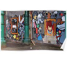 glasgow street art Poster