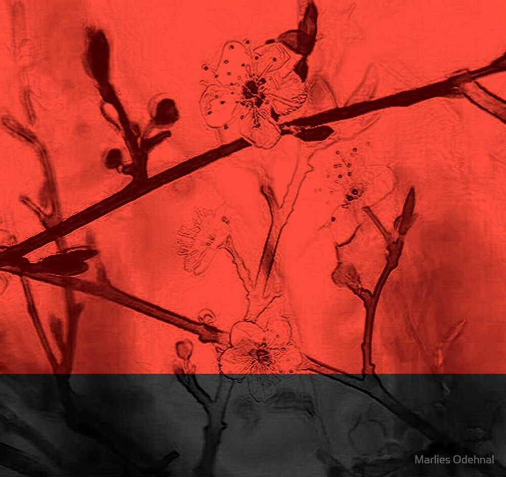 Red Blossoms by Marlies Odehnal