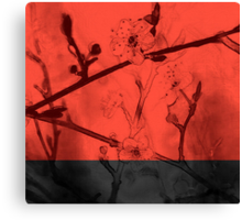 Red Blossoms Canvas Print