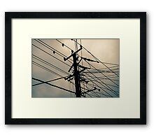 Wire prints Framed Print