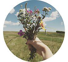 Vintage Flower Photo Photographic Print