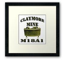 Claymore Mine Framed Print