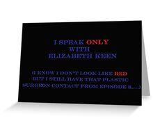 Elizabeth Keen & Surgeon  Greeting Card