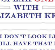 Elizabeth Keen & Surgeon  Sticker