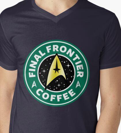 Final Frontier Coffee (Star Trek) - Starbucks Mens V-Neck T-Shirt
