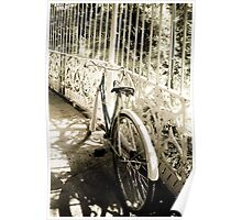 Back in Times - Gardens - Old Raleigh bicycle Poster