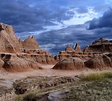An Impending Storm in the Badlands by Dave Storym