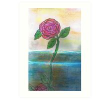 Just One Rose Will Do Art Print