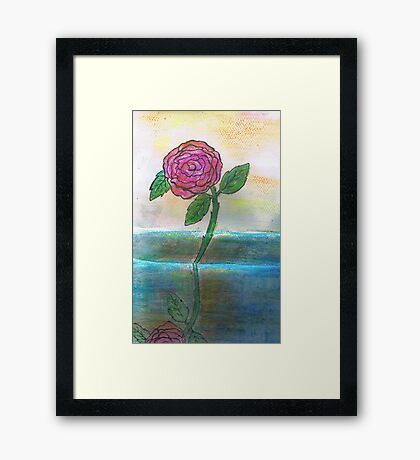 Just One Rose Will Do Framed Print