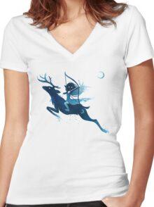 Elf Archer Women's Fitted V-Neck T-Shirt