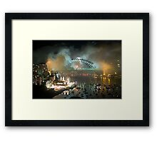 The Carnival Is Over - Sydney New Years Eve 2010 Framed Print