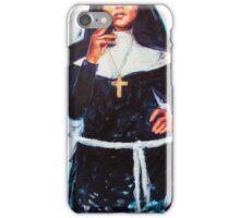Nun smoking a cigarette iPhone Case/Skin