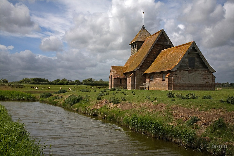 The church at Fairfield, Romney Marsh, Kent by brimo
