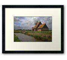The church at Fairfield, Romney Marsh, Kent Framed Print
