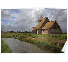 The church at Fairfield, Romney Marsh, Kent Poster