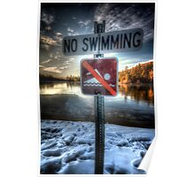 No Speedo Zone Poster