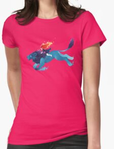 Lion Rider Womens Fitted T-Shirt