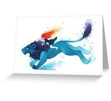 Lion Rider Greeting Card