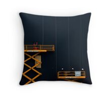 Paris - Men at Work Throw Pillow