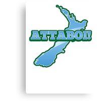 ATTABOI! Kiwi New Zealand funny saying Bro Canvas Print