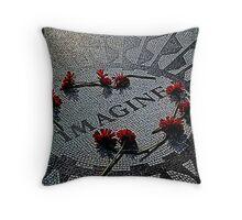 Imagine - The John Lennon Memorial Throw Pillow