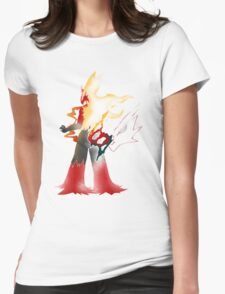Fire Fight Power Womens Fitted T-Shirt