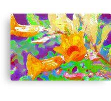 Allamanda branch full of flowers Canvas Print