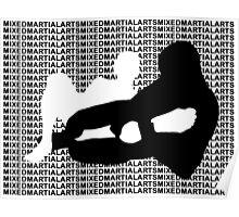 Mixed Martial Arts MMA Kneebar Poster
