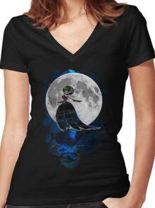 Gardevoir magical night Women's Fitted V-Neck T-Shirt