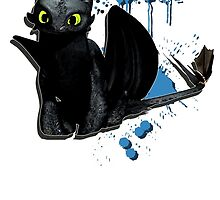 How to train your dragon - Toothless Splatter by Domadraghi