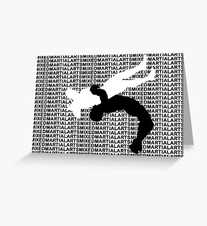 Mixed Martial Arts Freestyle Wrestling Suplex MMA  Greeting Card