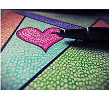 Colorful heart. Photographic Print
