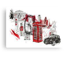 London Town Illustration Canvas Print