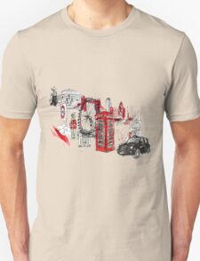 London Town Illustration Unisex T-Shirt