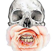 Skull Flower Teeth by nathaliavel