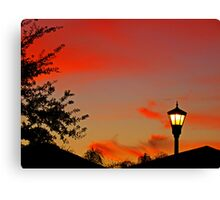 Suburban Sunset Canvas Print