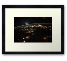 Good Morning From the International Space Station Framed Print
