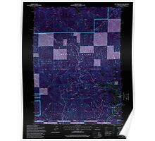 USGS Topo Map Oregon Dutchman Peak 279739 1996 24000 Inverted Poster