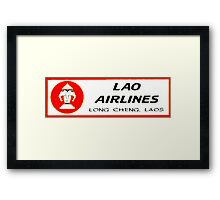 Lao Airlines Framed Print
