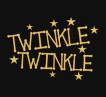 TWINKLE TWINKLE little stars Childrens nursery rhyme One Piece - Short Sleeve