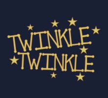 TWINKLE TWINKLE little stars Childrens nursery rhyme Kids Tee