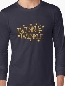 TWINKLE TWINKLE little stars Childrens nursery rhyme Long Sleeve T-Shirt
