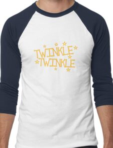 TWINKLE TWINKLE little stars Childrens nursery rhyme Men's Baseball ¾ T-Shirt