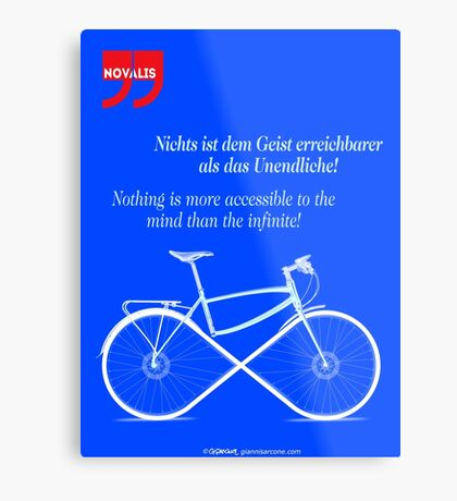 Ride To Infinity (quotation) Metal Print