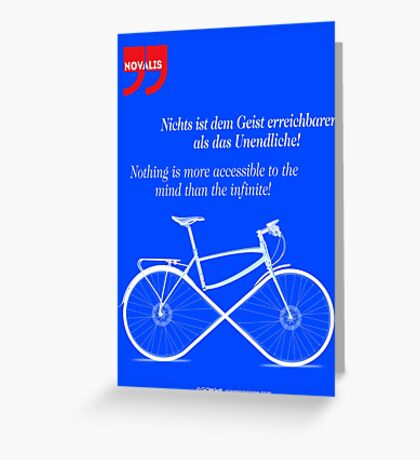Ride To Infinity (quotation) Greeting Card